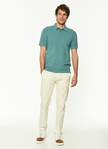 George Hogg Erkek 7004654 Slim Fit Tshirt Yeşil